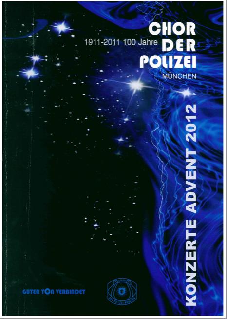 Jubiläumszeitschrift Chor der Polizei München mit Mario Karacic Fliesenverlegung